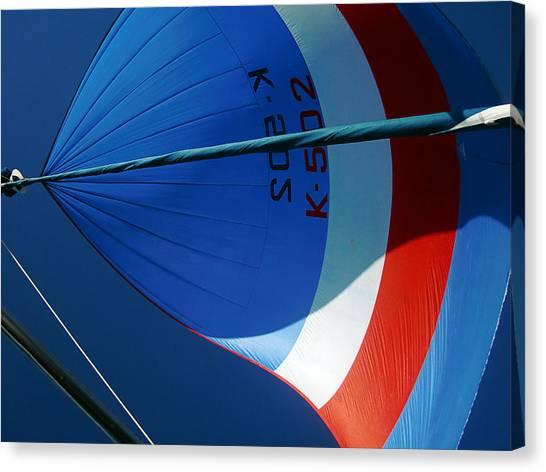 Spinnaker Flying Canvas Print by Tony Reddington