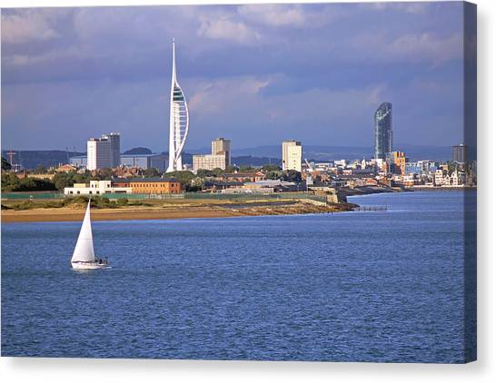 Spinnaker Tower And Gunwharf Quays Canvas Print