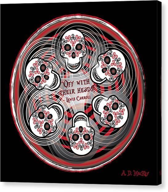Spinning Celtic Skulls Canvas Print