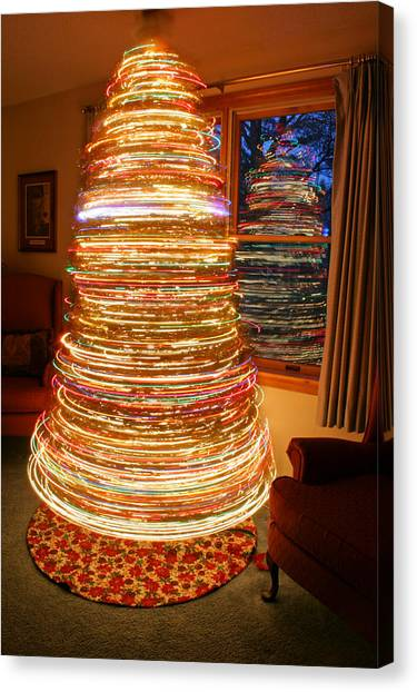 Spinning Christmas Tree Canvas Print