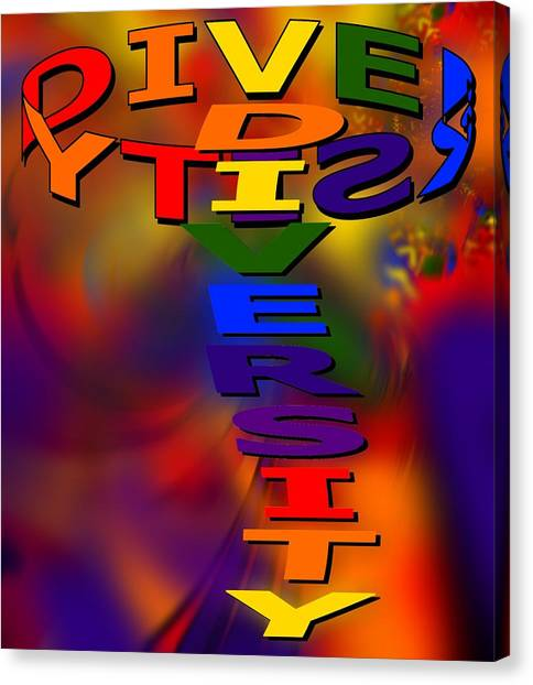 Spinning Diversity Canvas Print by Pharris Art