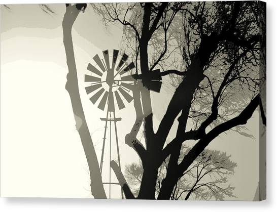 Spinning Inside Canvas Print