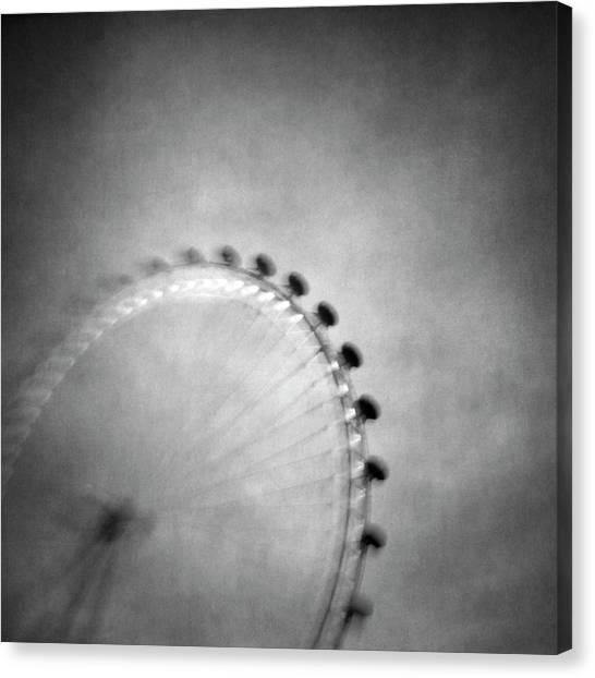London Eye Canvas Print - Spinning Round by Vangelis Bagiatis