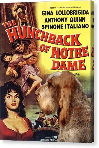 Spinone Canvas Print - Spinone Italiano - Italian Spinone Art Canvas Print - The Hunchback Movie Poster by Sandra Sij
