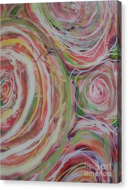 Spiral Bouquet Canvas Print