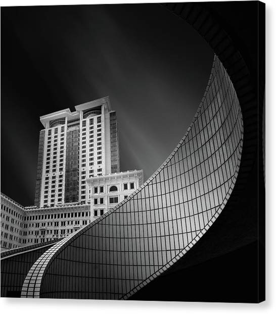 Hong Kong Canvas Print - Spiral City by Mohammad Rafiee