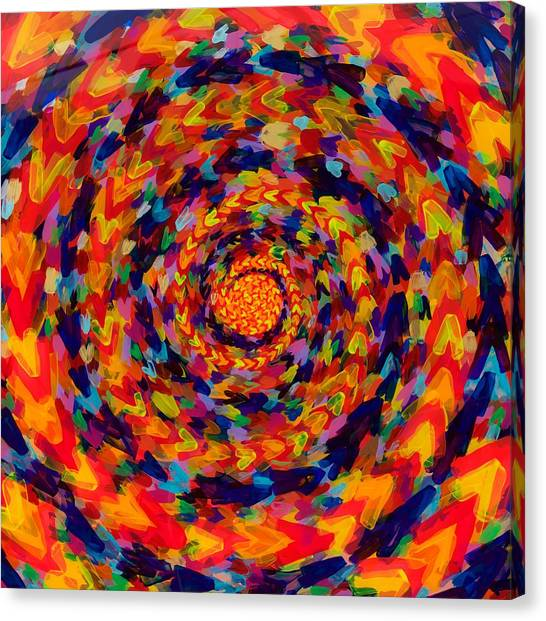 Spiral Color 14-49 Canvas Print by Patrick OLeary