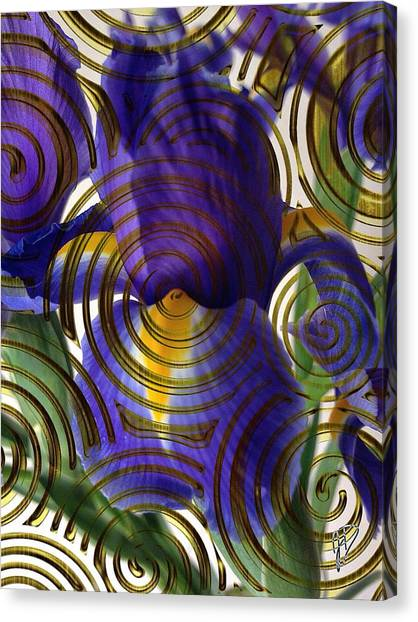 Spiral Iris Canvas Print
