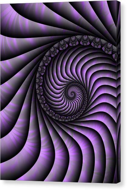 Spiral Purple And Grey Canvas Print