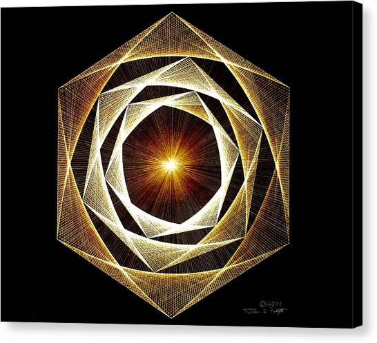 Fractal Canvas Print - Spiral Scalar by Jason Padgett