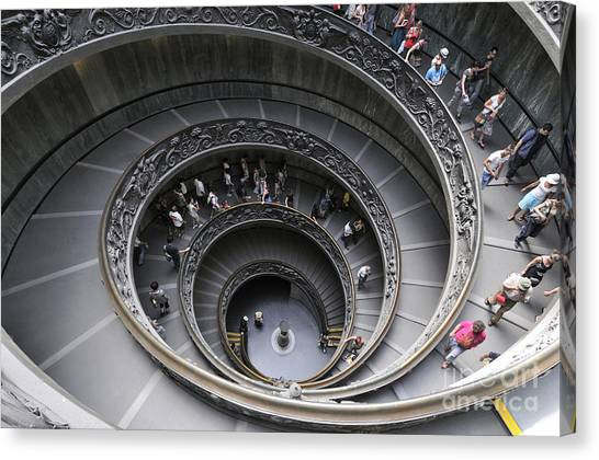 The Vatican Museum Canvas Print - Spiral Staircase By Giuseppe Momo At The Vatican Museum. Rome. Italy by Bernard Jaubert
