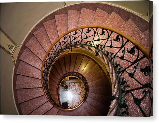 Spiral Staircase In Can Prunera Museum Canvas Print