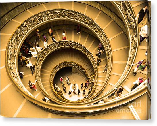 The Vatican Museum Canvas Print - Spiral Staircase by Stefano Senise