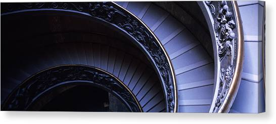 The Vatican Museum Canvas Print - Spiral Staircase, Vatican Museum, Rome by Panoramic Images