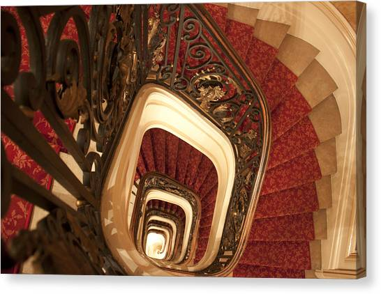 Spiral Stairs Canvas Print