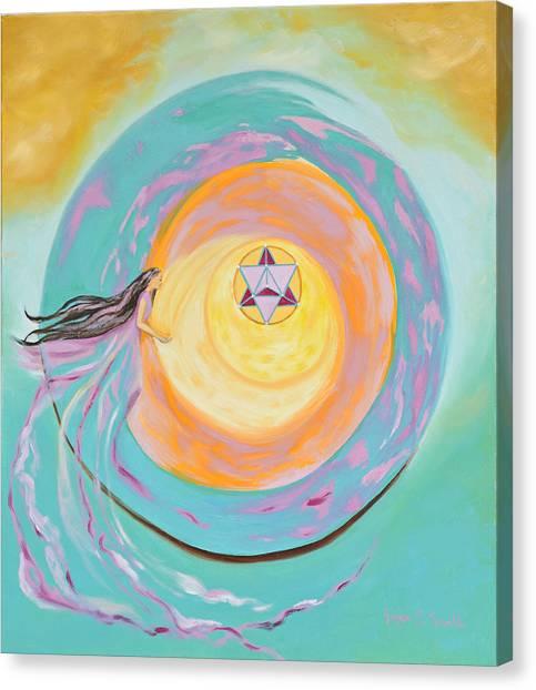Spiral Toward The Light Canvas Print by Joyce Small