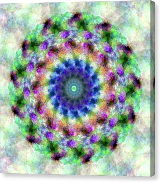 Spirea Mandala #1 Canvas Print