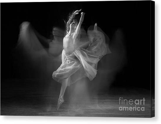 Spirit Dance In Black And White Canvas Print