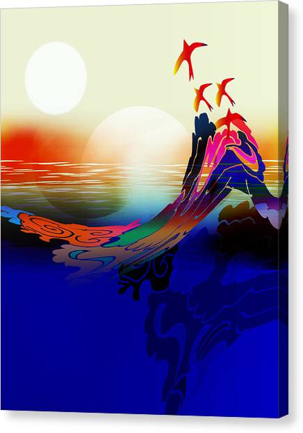 Spirit Flight Canvas Print by Bruce Manaka