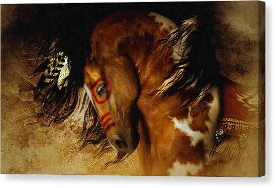 War Horse Canvas Print - Spirit Horse by Shanina Conway