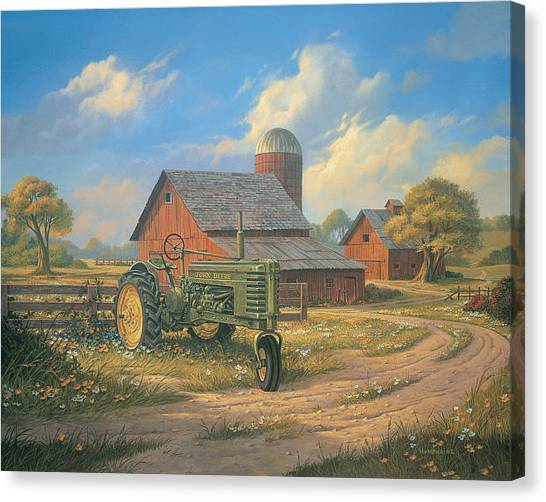 Barns Canvas Print - Spirit Of America by Michael Humphries
