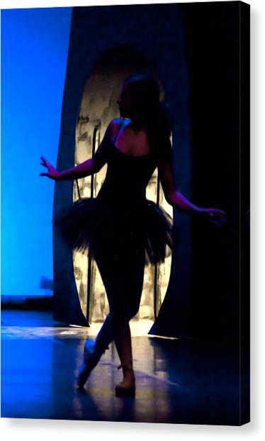 Spirit Of Dance 3 - A Backlighting Of A Ballet Dancer Canvas Print