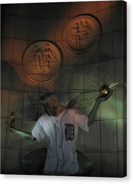 Spirit Of Detroit Tigers Canvas Print