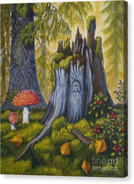 Painterly Canvas Print - Spirit Of The Forest by Veikko Suikkanen