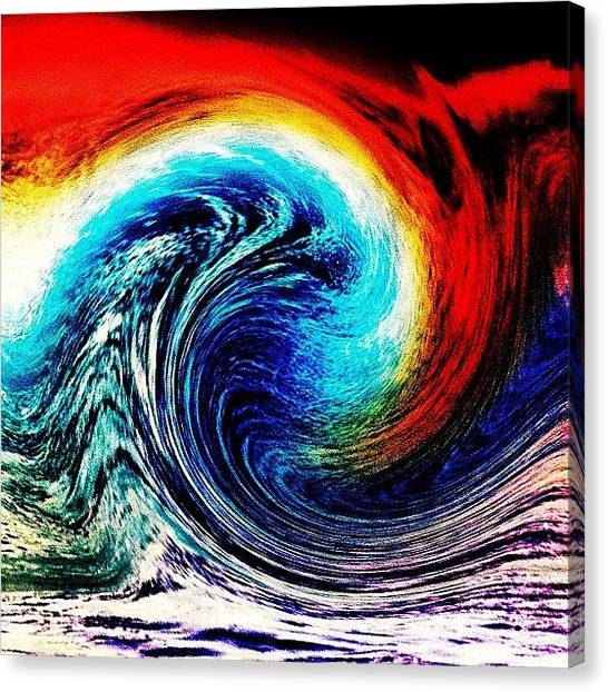 Tsunamis Canvas Print - Spirit Of The Tsunami by Urbane Alien