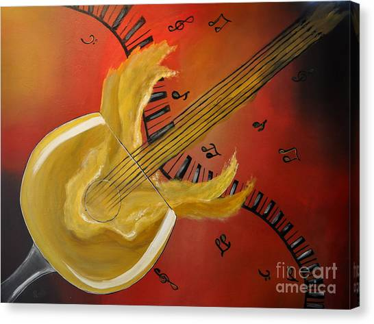 'spirit' Ual Music Canvas Print