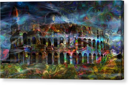 The Amphitheatre Canvas Print - Spirits Of The Coliseum by Jack Zulli