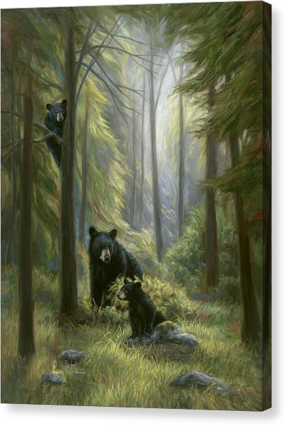 Spirit Canvas Print - Spirits Of The Forest by Lucie Bilodeau