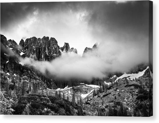 Cloud Canvas Print - Spirits Of The Mountains by Yuri Santin