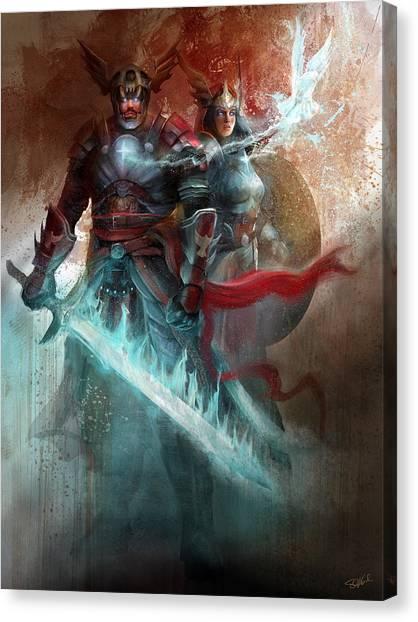 Spiritual Armor Canvas Print