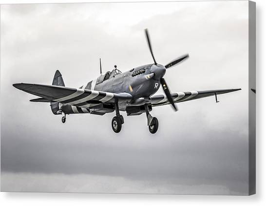 Spitfire Coming Home Canvas Print