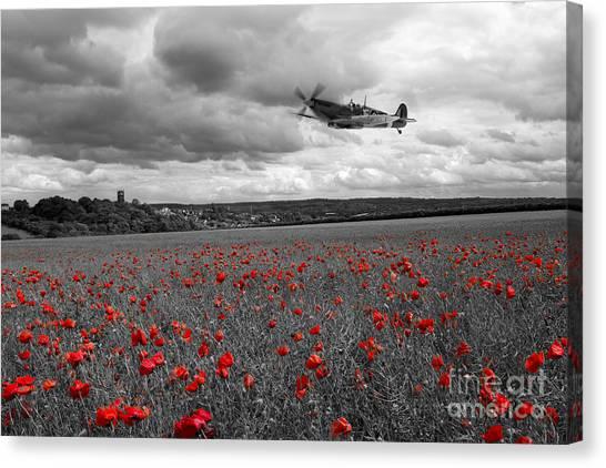 Poppys Canvas Print - Spitfire Red  by J Biggadike