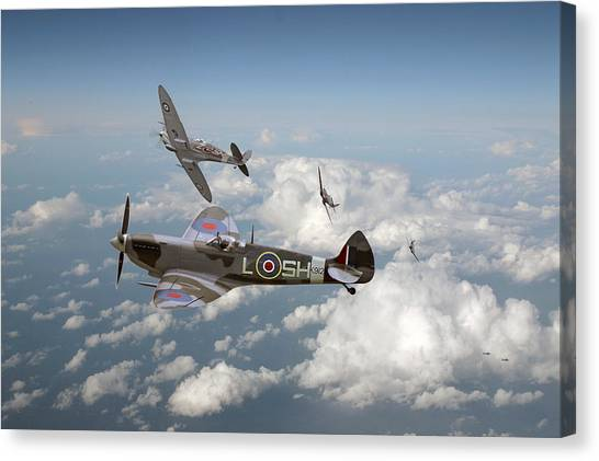 Luftwaffe Canvas Print - Spitfire - Tally Ho by Pat Speirs