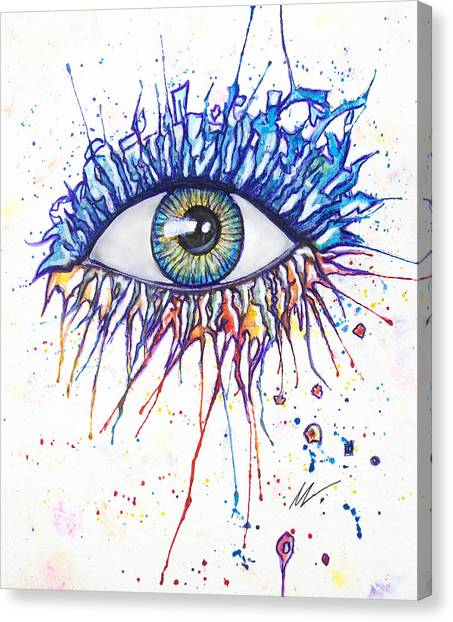 Splash Eye 1 Canvas Print