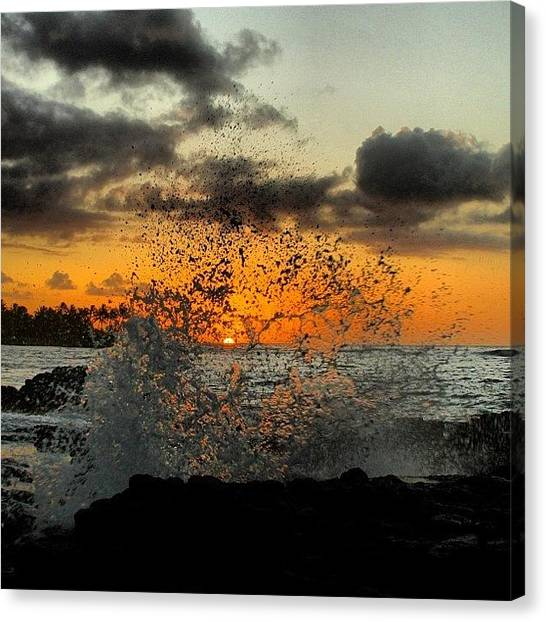 Hawaii Canvas Print - Splash! #igtube #igdaily #bestoftheday by Brian Governale