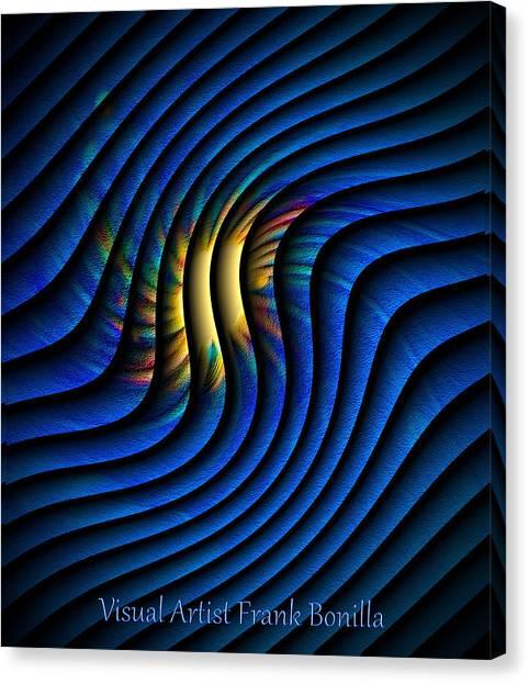 Canvas Print featuring the digital art Splash Of Color by Visual Artist Frank Bonilla