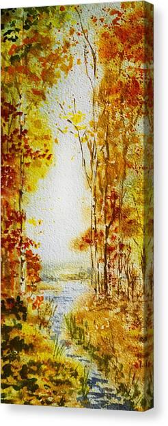 Maple Leaf Art Canvas Print - Splash Of Fall by Irina Sztukowski