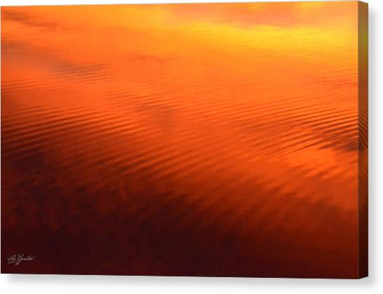 Splash Of Sunset  Canvas Print