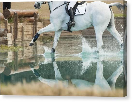 Splashy Reflection Canvas Print