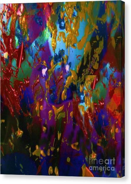 Splatter Canvas Print by Doris Wood