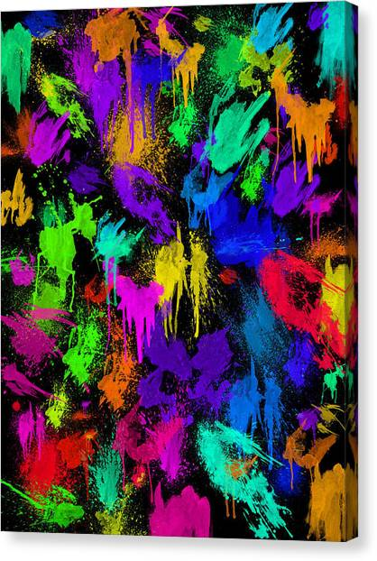 Splattered One Canvas Print