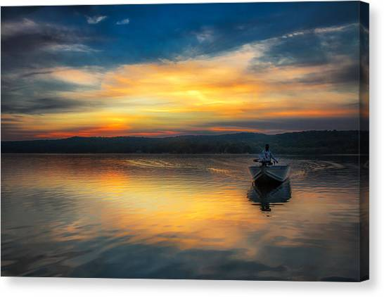 Splendor On The Lake Canvas Print