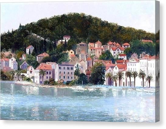 Split Harbour Croatia Canvas Print