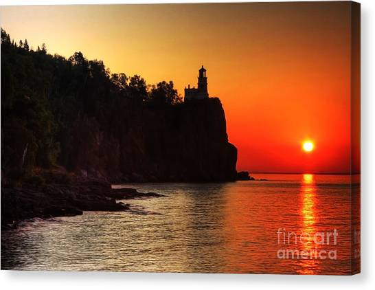 Split Rock Lighthouse - Sunrise Canvas Print