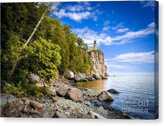 Split Rock Shoreline Canvas Print