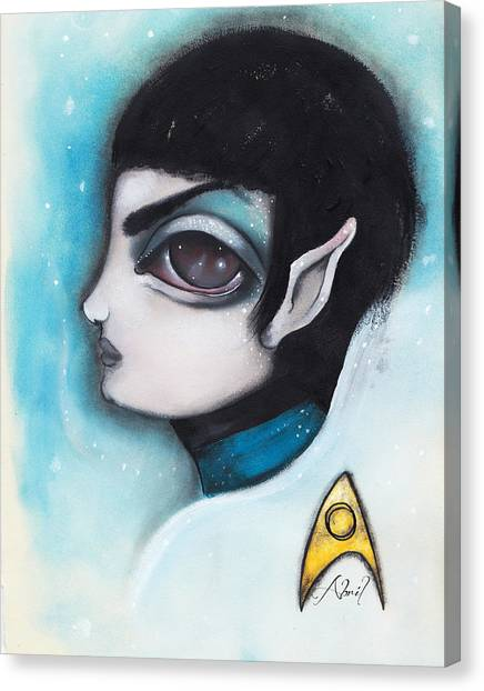Star Trek Canvas Print - Spock by Abril Andrade Griffith